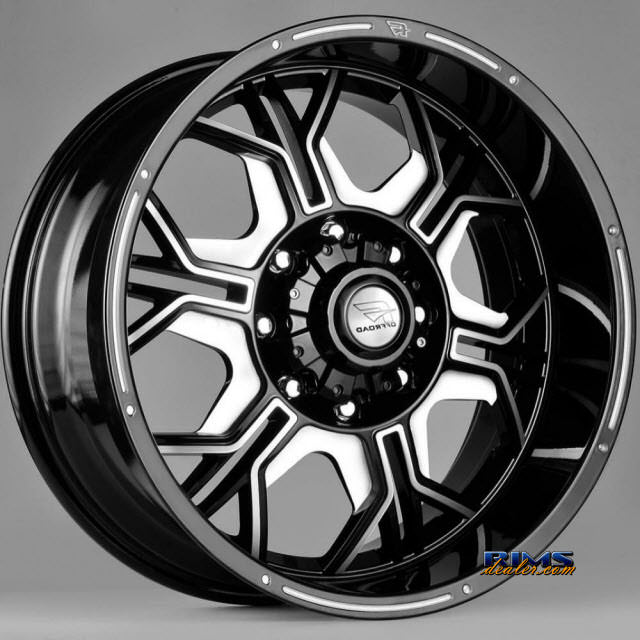Pictures for FK Ethos Wheels ORC-952 black flat w/ machined