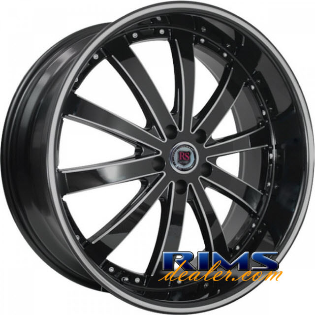 Pictures for RedSport RSW77 machined black w/stripe