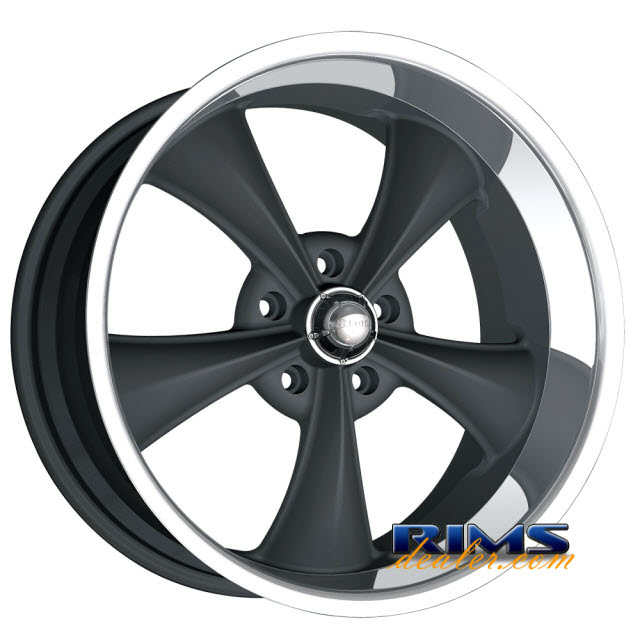 Pictures for Ridler Wheels 695 black flat w/ machined