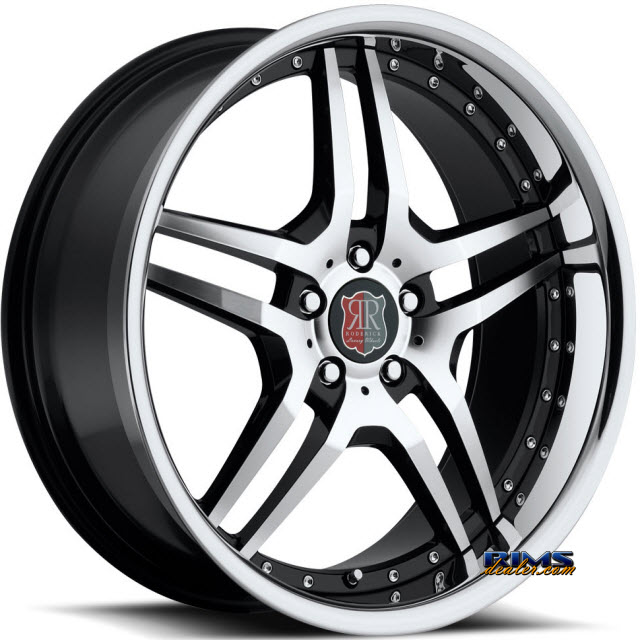 Pictures for Roderick Luxury Wheels RW2 black w/ chrome lip