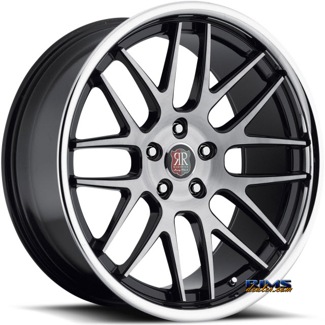 Pictures for Roderick Luxury Wheels RW6 black w/ chrome lip