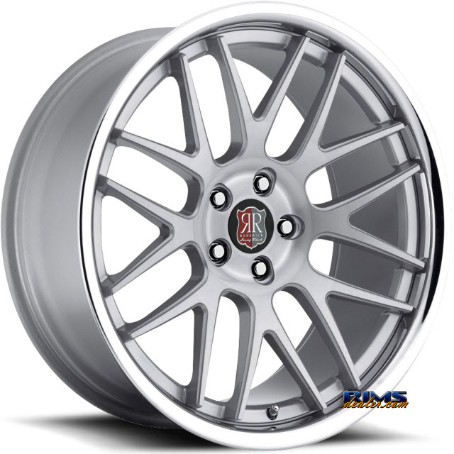 Pictures for Roderick Luxury Wheels RW6 silver w/ chrome lip