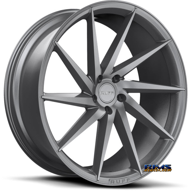 Pictures for RUFF RACING R2 - Available in 5-lug Only Gunmetal Flat