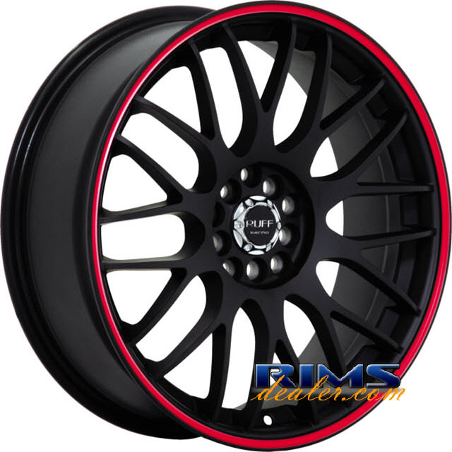 Pictures for RUFF RACING R355 black machined w/ red stripe