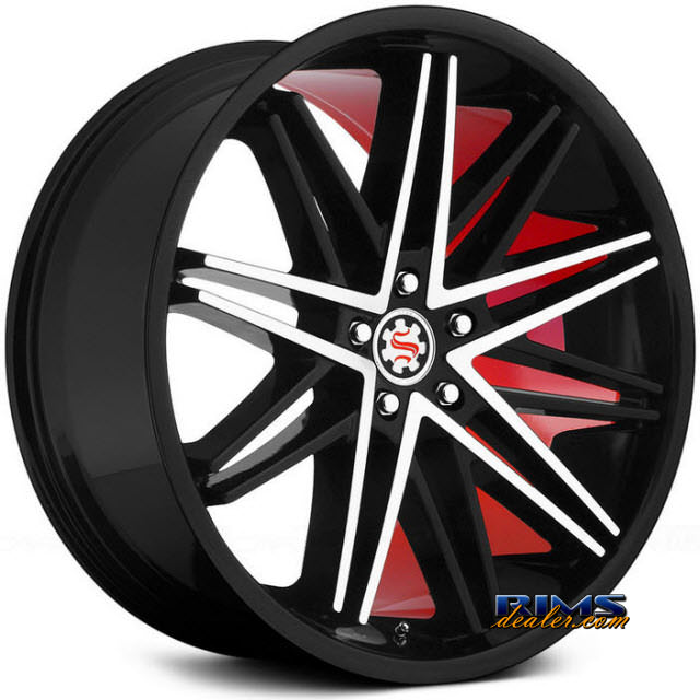 Pictures for Scarlet SW1-M black machined w/ red inner