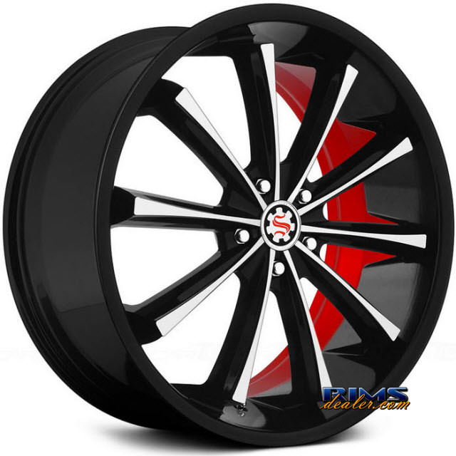 Pictures for Scarlet SW3-M Garbo black machined w/ red inner