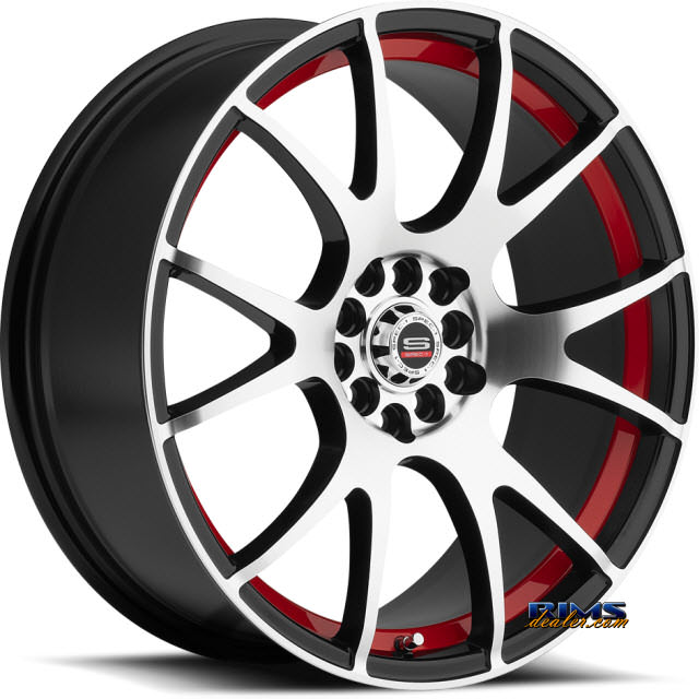 Pictures for Spec 1 Wheels SP-2 Red Inner black gloss w/ machined