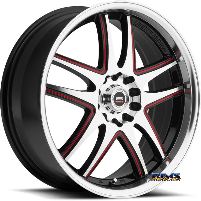 Pictures for Spec 1 Wheels SP- 15 black w/ red cap