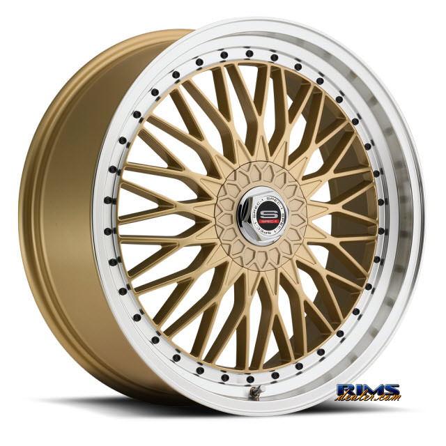 Pictures for Spec 1 Wheels SP-3 gold w/ machined