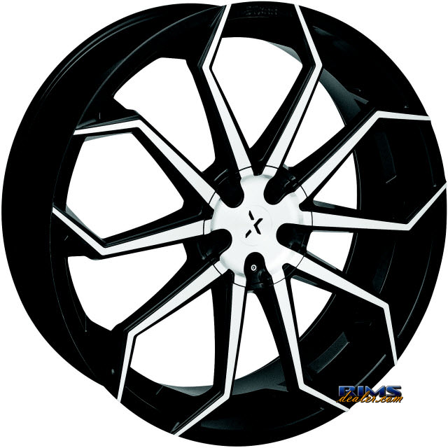 Pictures for STARR ALLOY WHEEL 308 Lupa black gloss w/ machined