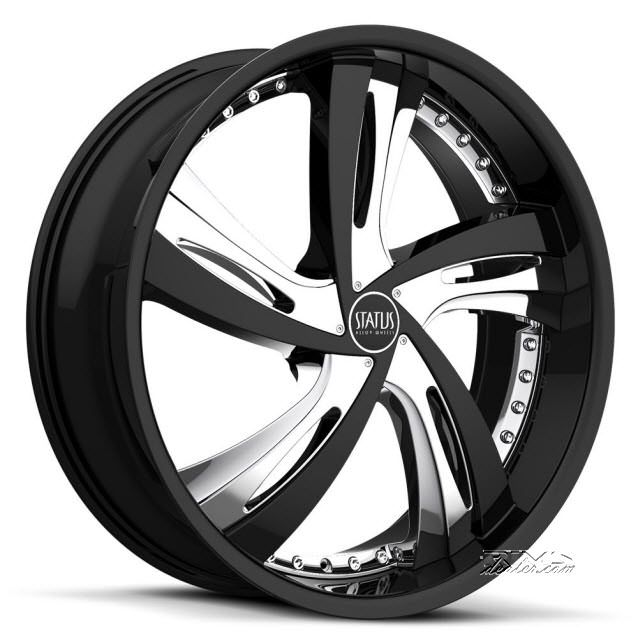 Pictures for STATUS Fantasy S835 (5-lug only) black chrome