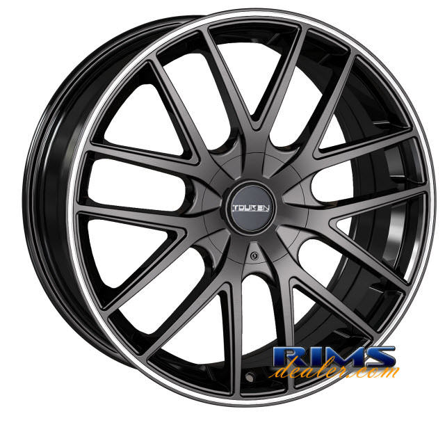 Pictures for Touren Custom Wheels TR60 black w/ stripe