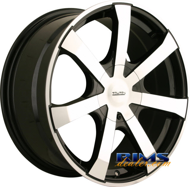 Pictures for Touren Custom Wheels TR90 machined w/ black