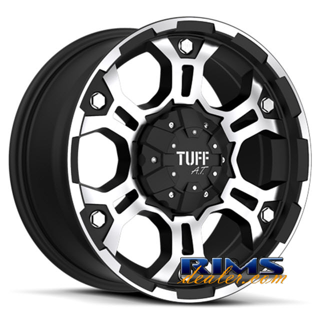 Pictures for Tuff A.T Wheels T03 black flat w/ machined