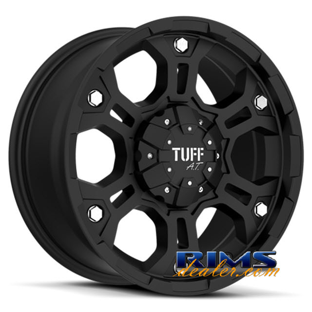 Pictures for Tuff A.T Wheels T03 black flat
