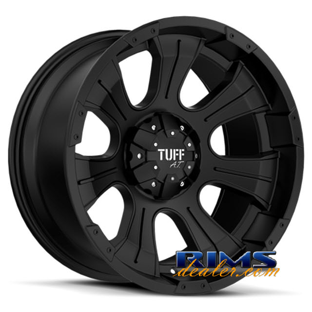 Pictures for Tuff A.T Wheels T06 black flat