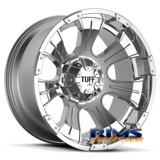 Pictures for Tuff A.T Wheels T06 chrome