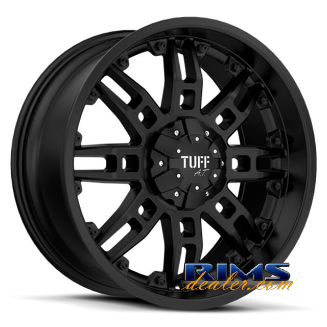 Pictures for Tuff A.T Wheels T07 black flat