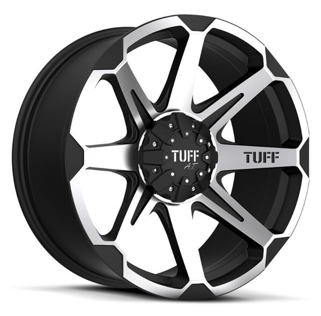 Pictures for Tuff A.T Wheels T05 Black Flat w/ Machined