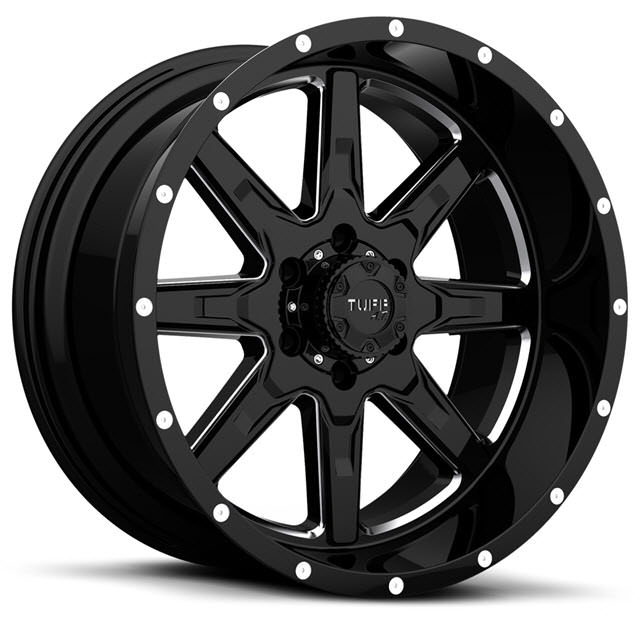 Pictures for Tuff A.T Wheels T15 Black Milled
