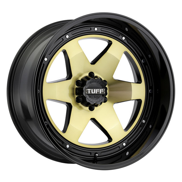 Pictures for Tuff A.T Wheels T1A (Gold Face) Black Gloss