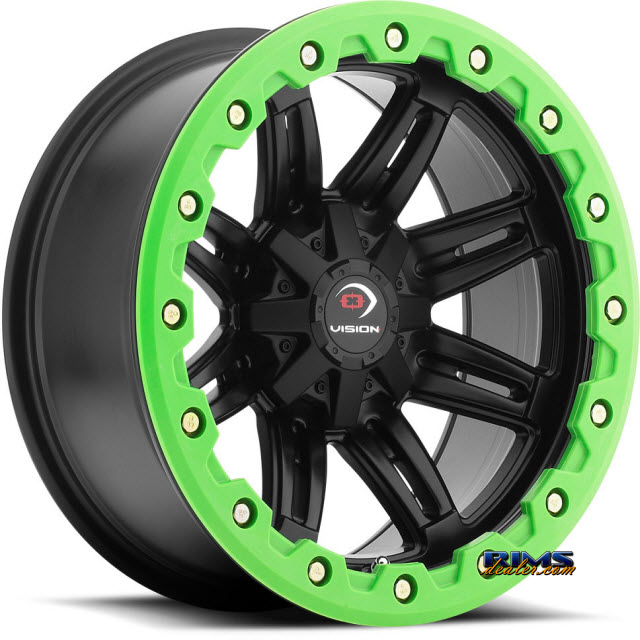 Pictures for Vision Wheel Five-Fifty One (green lip armor ) black flat