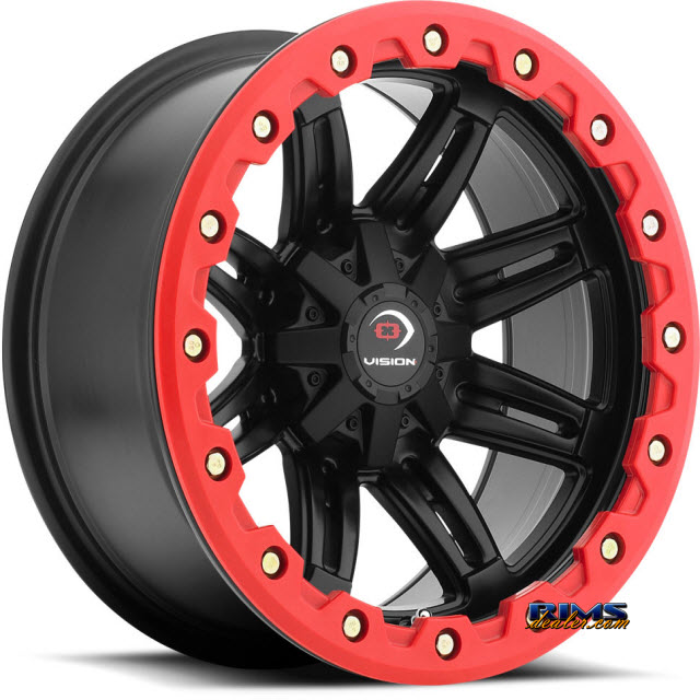 Pictures for Vision Wheel Five-Fifty One (red lip armor ) black flat