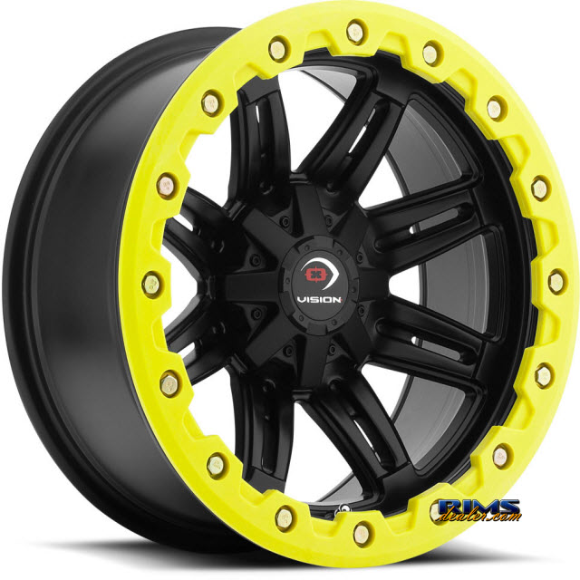 Pictures for Vision Wheel Five-Fifty One (yellow lip armor ) black flat