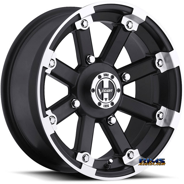Pictures for Vision Wheel 393 Lockout black gloss w/ machined