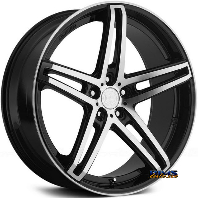 Pictures for TIS Wheels 536MB black gloss w/ machined