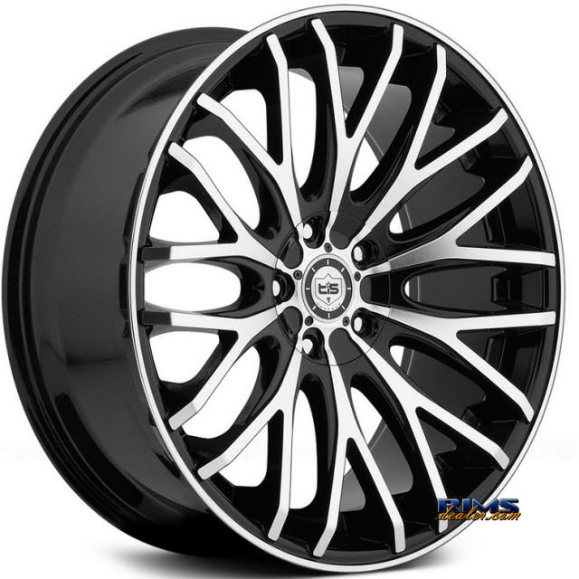 Pictures for TIS Wheels 537MB black gloss w/ machined