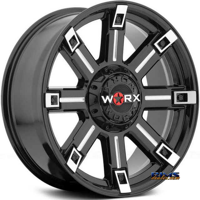 Pictures for Worx Alloy Off-Road 806BM TRITON Machined w/ Black