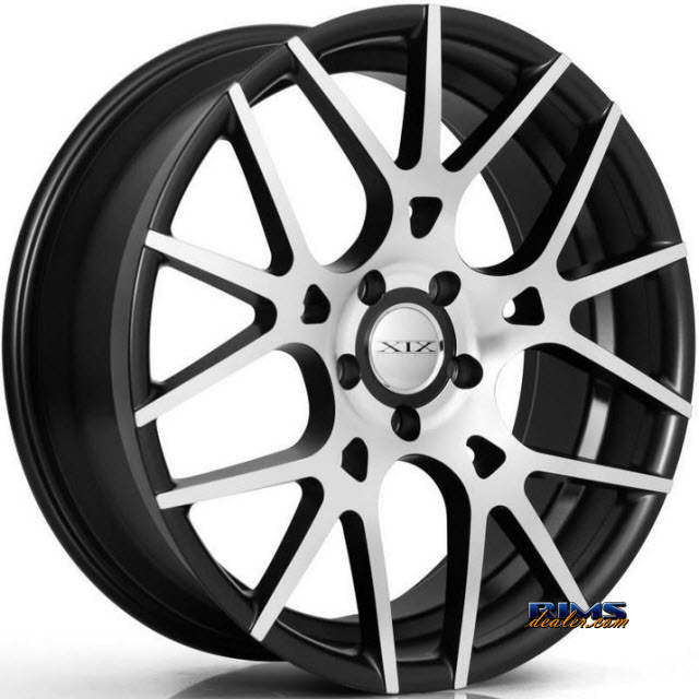 Pictures for XIX Wheels X37 Black Flat w/ Machined