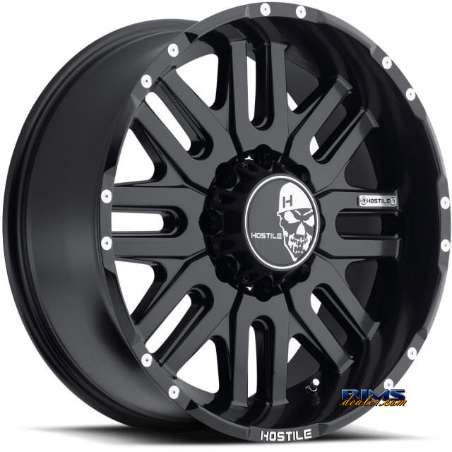 Pictures for Hostile Truck Wheels H104 - ZOMBIE 8 satin black