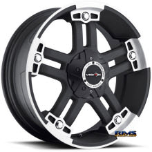 Vision Wheel Warlord 394 black flat w/ machined
