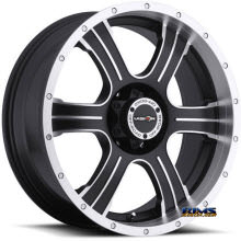 Vision Wheel Assassin 396 black flat w/ machined