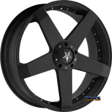 KMC KM775 Rockstar Car Black Flat