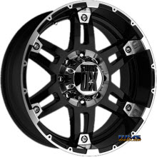 KMC XD Off-Road XD797 Spy Black Gloss w/ Machined