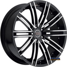 Vision Wheel Milanni Khan 9032 black gloss w/ machined