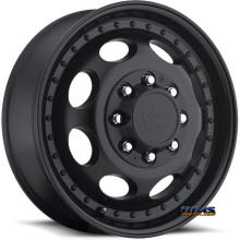 Vision Wheel 181H Hauler Dually black flat
