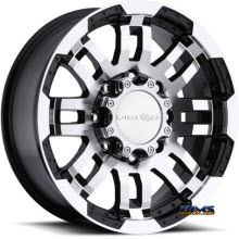 Vision Wheel Warrior 375 black flat w/ machined