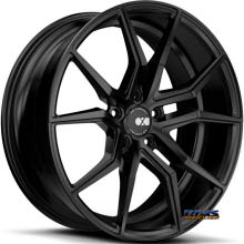 XO Luxury Wheels Verona Black Flat